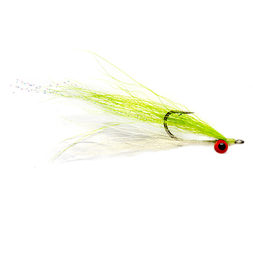 chartruesse and white clouser minnow