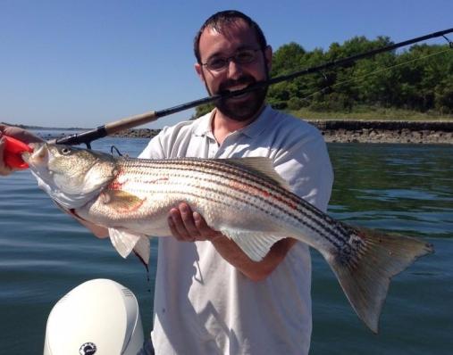 Keeper Boston Harbor light tackle striped bass