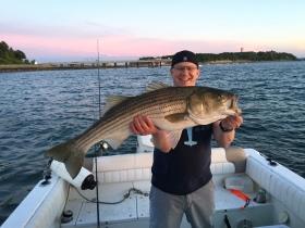 40 inch boston harbor striped bass