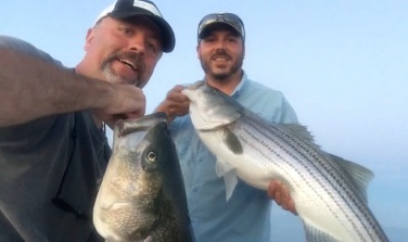 Northshore Boston striped bass double header