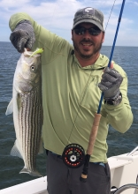 """26"""" North Shore striper on the fly"""