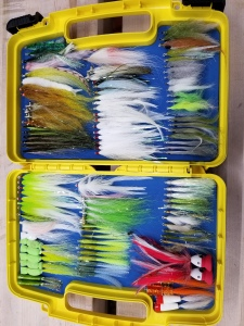 Fly fishing bait fish patterns and top water flies