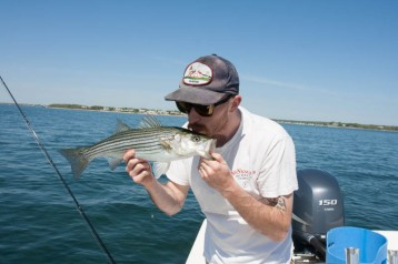 Colin happy to see the stripers back after the LONG winter break