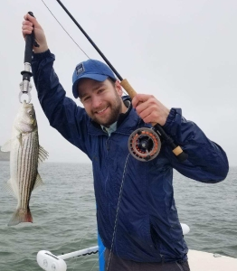 Rob's First Striped Bass on the Fly!
