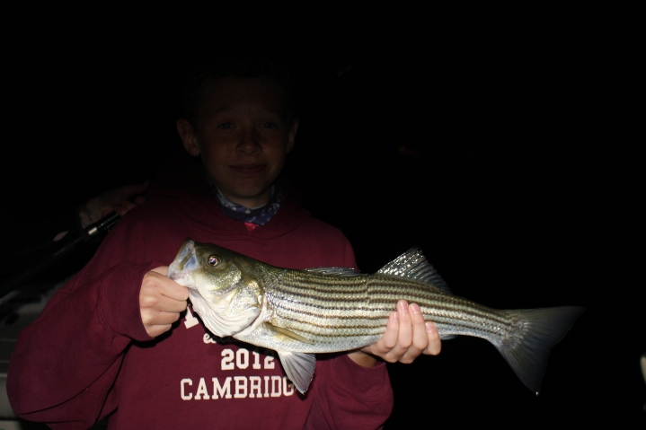 First Striper for this guy on an evening trip