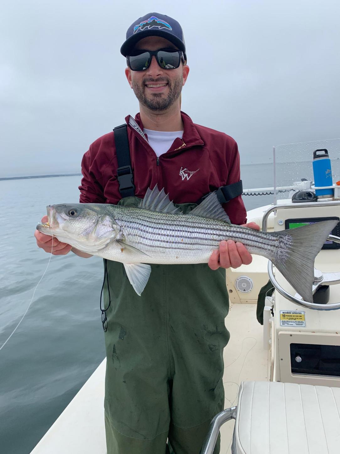 Nick's first Striper on the fly