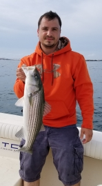 Light Tackle Stripers for hours, double and triples!